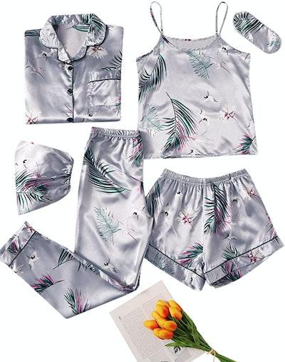 SheIn Seven-Piece Pajama Set
