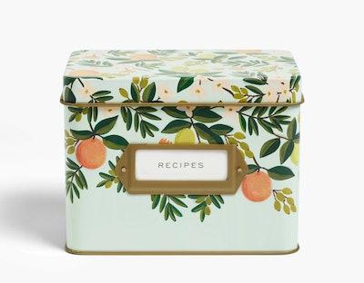 Citrus Floral Recipe Tin