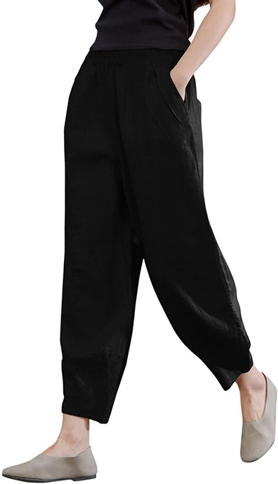 IXIMO Women's 100% Linen Pants