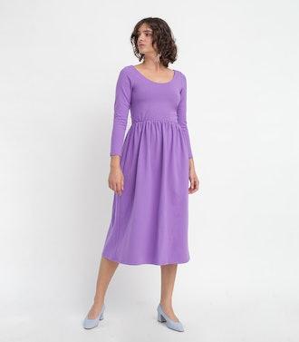 Purple Fosse Dress