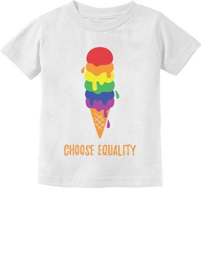 Equality Ice Cream Pride Flag Toddler Kids T-Shirt