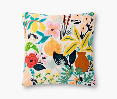 Multi Terracotta Embroidered Pillow