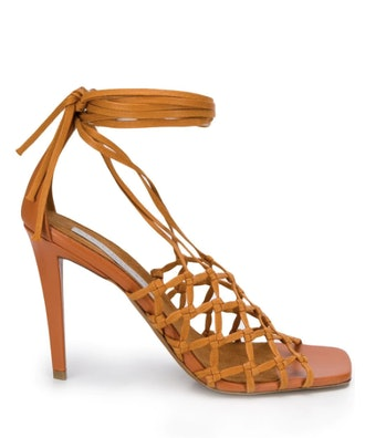 Ankle-Tie Lattice Sandals