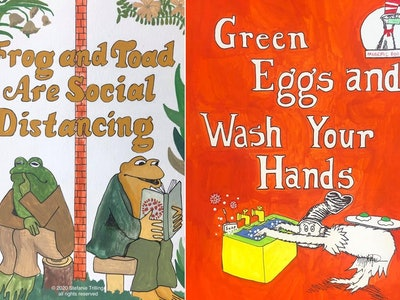 A New York mom reimagined popular children's book covers as a way of explaining the coronavirus pandemic.