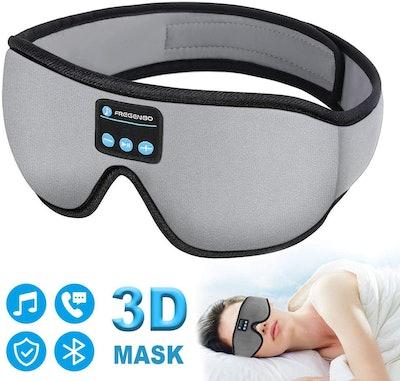 FREGENBO Sleep Headphones Eye Mask