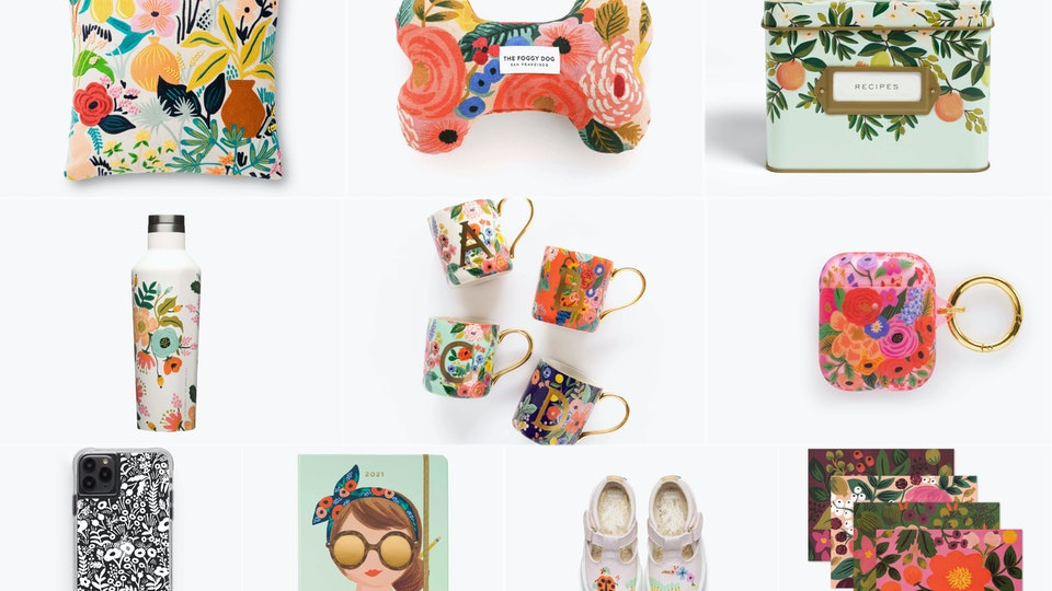 Save big on everything Rifle Paper Co. has to offer during their Memorial Day sale.