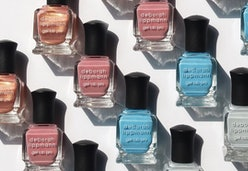 2020's blue nail polish trend from Deborah Lippmann's new collection.