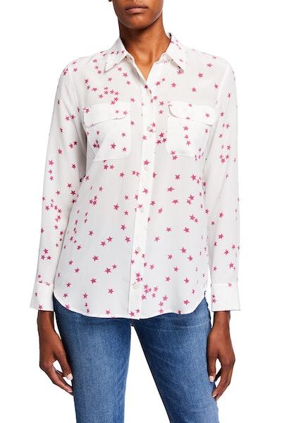 Equipment Stars Slim Signature Button-Down Shirt