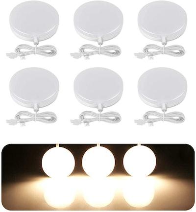 LE LED Under Cabinet Puck Lights Kit (6-Pack)