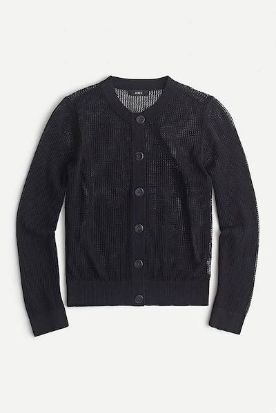 J.Crew Pointelle-Stitch Cardigan Sweater