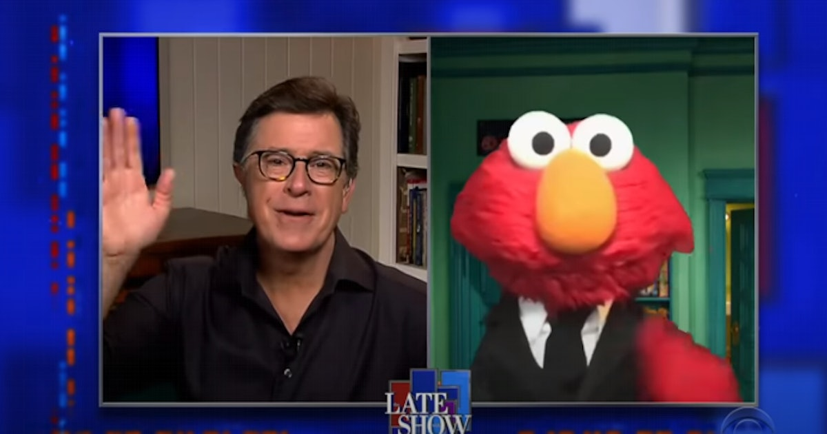 Elmo Assures Stephen Colbert They Won't Be Late Night Rivals For This Adorable Reason