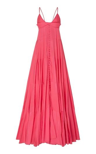 La Robe Manosque Tiered Chiffon Maxi Dress