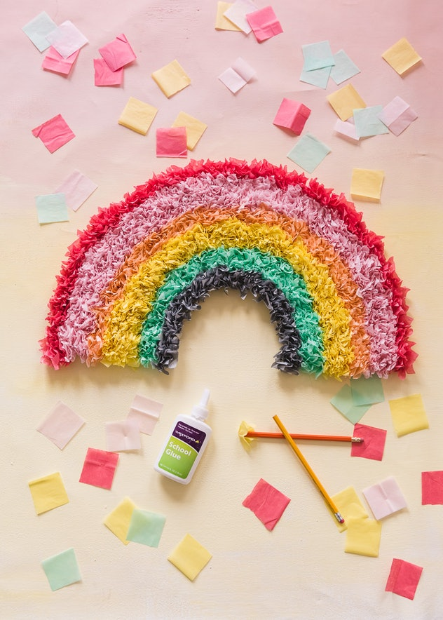 DIY Tissue paper rainbow