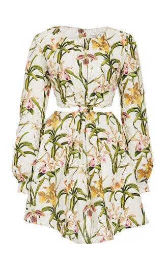 Parana Flora Linen Mini Dress
