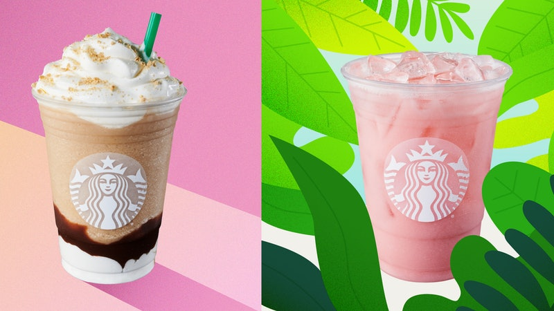 Starbucks' two new summer drinks include the pink iced guava passionfruit drink and the s'mores frappuccino.