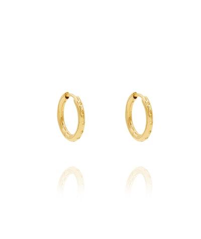 Lemon Topaz Hoop Earrings