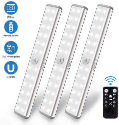 Litake Rechargeable Under Cabinet Lighting (3-Pack)