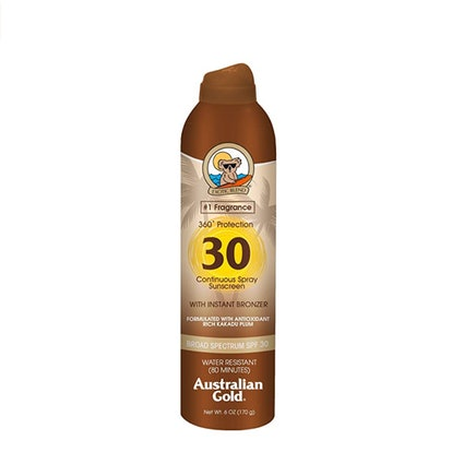 Australian Gold Continuous Spray Sunscreen With Instant Bronzer SPF 30