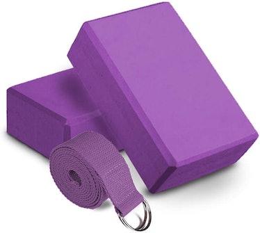 HLPD Yoga Block & Yoga Strap Set