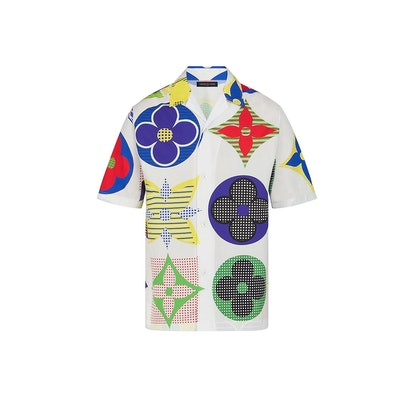 Multicolor Monogram Hawaiian Fit Shirt