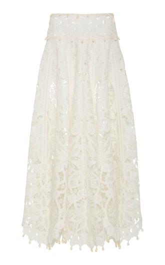 Wavelength Guipure Lace Skirt
