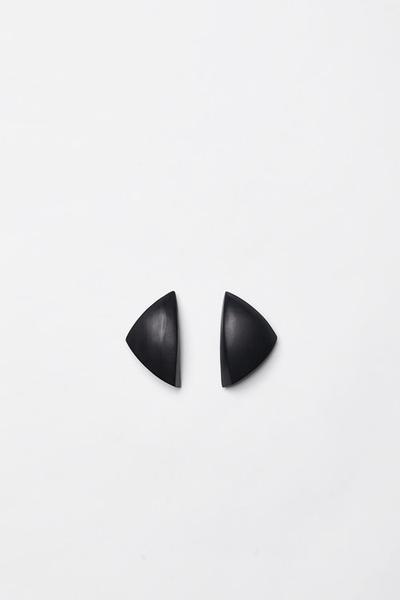 Oversized Black Earrings