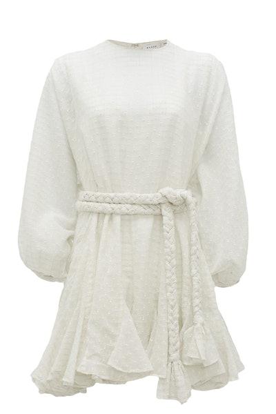Rhode Ella Fil-Coupé Cotton-Blend Dress