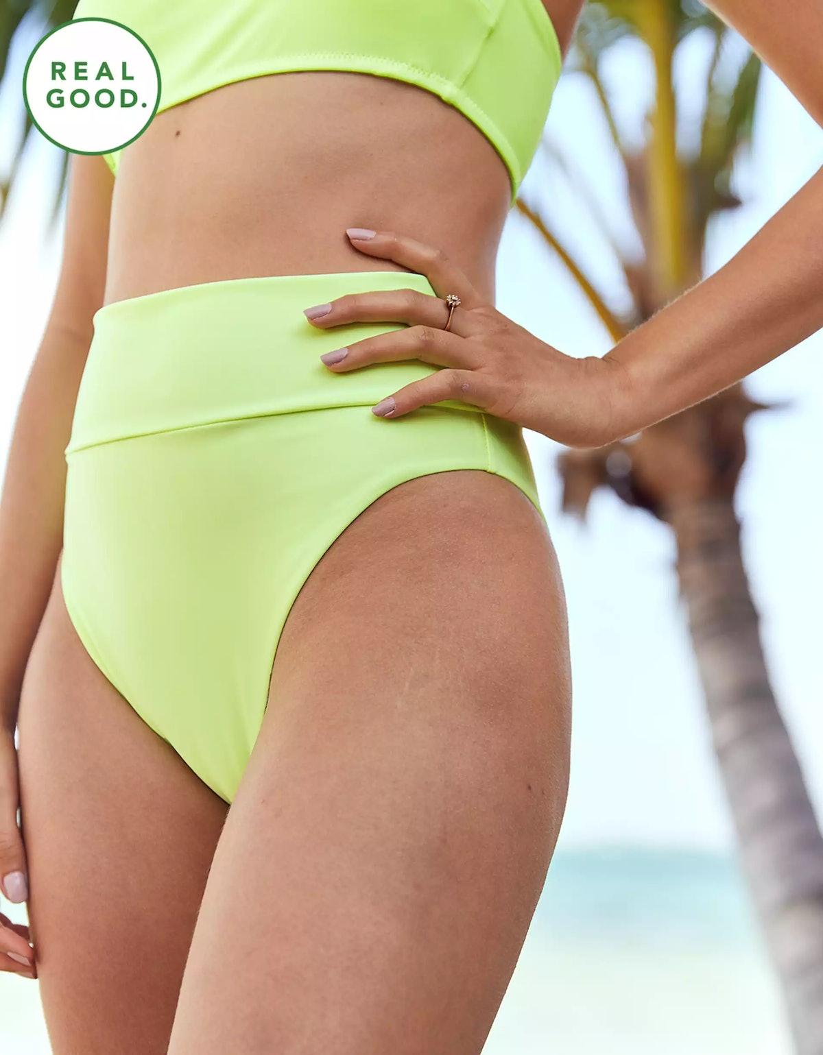 Aerie High Cut Cheeky Bikini Bottom