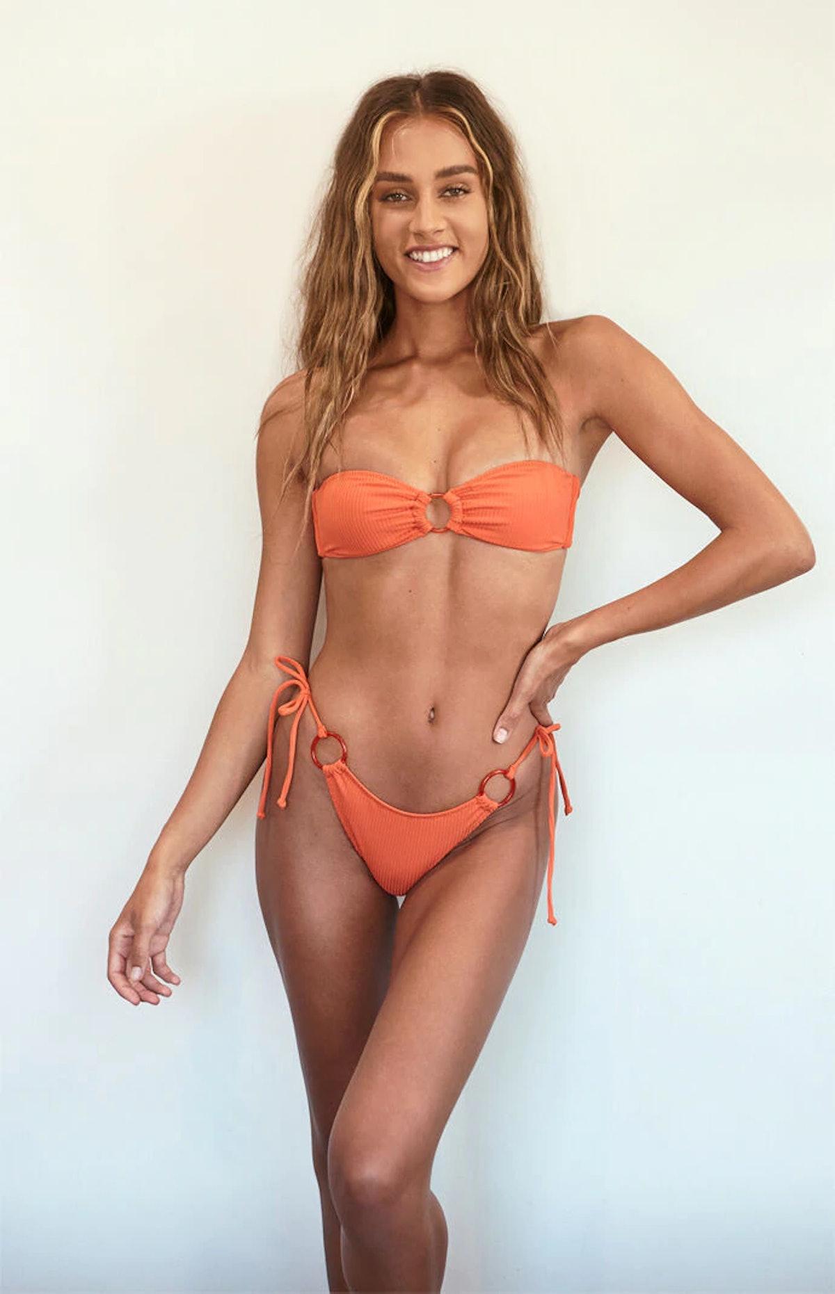 Kendall & Kylie Heat Wave Ring Bandeau Bikini Top