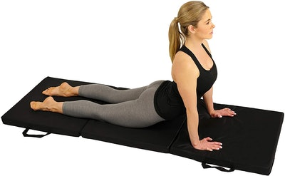 Sunny Health & Fitness Folding Gymnastics Tumbling Mat
