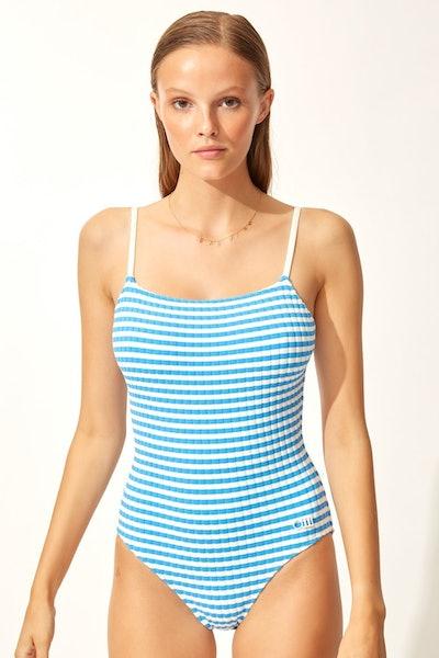 The Nina Azure Stripe Rib