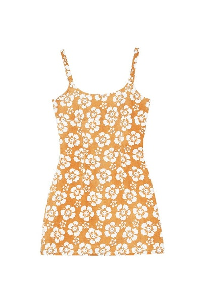 MALDIVES DRESS HAPPY HAWAII - MUSTARD