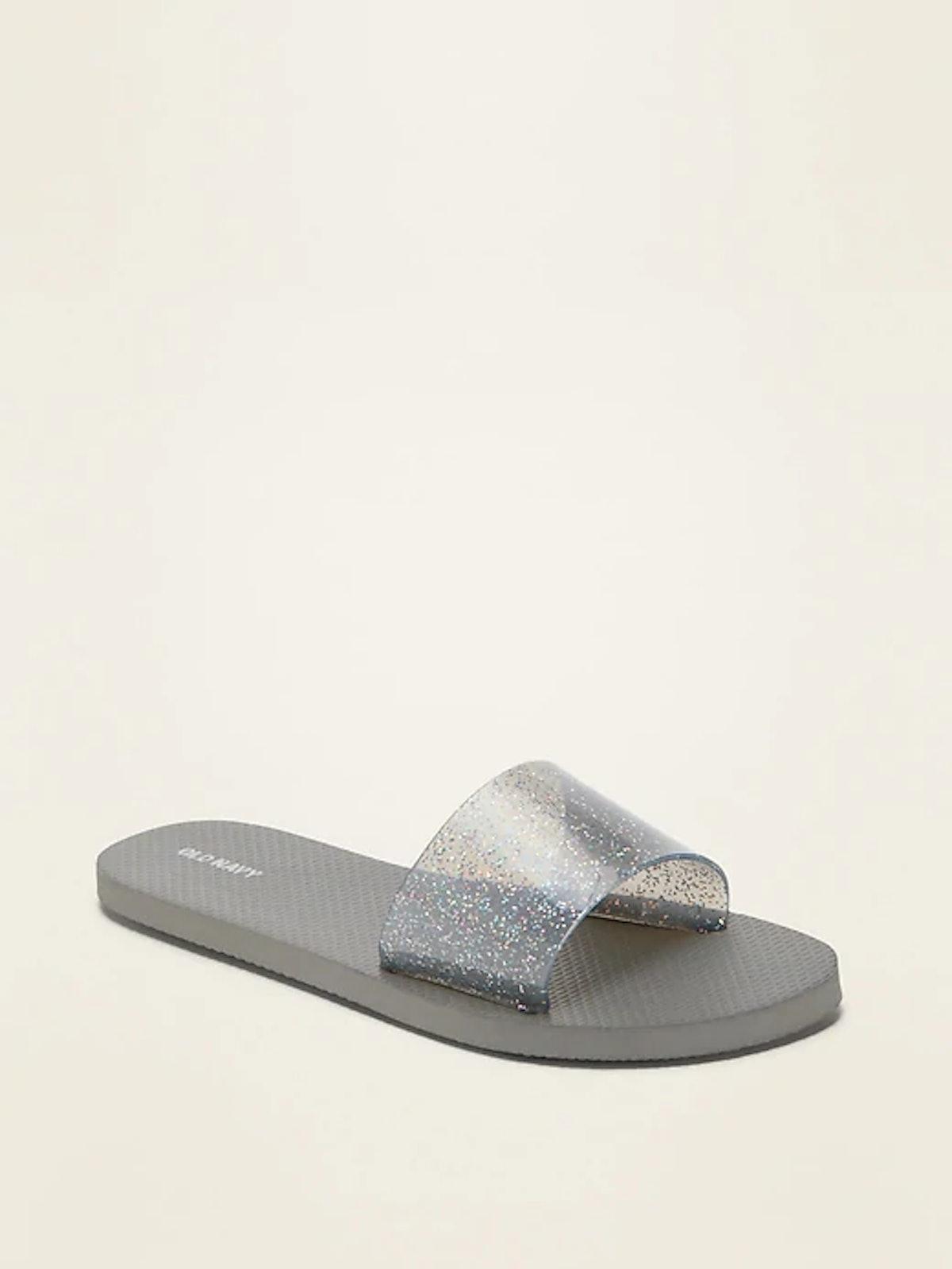 Jelly Flip-Flop Slide Sandals