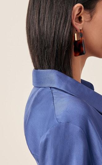 Melina Tortoiseshell Acrylic Earrings