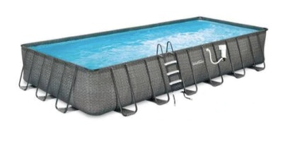 Blue Wave NB2134 Dark Wicker Deep Metal Frame Above Ground Pool Package
