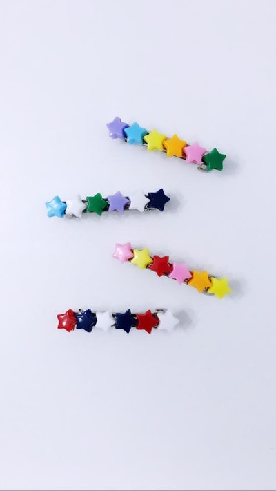 MIXED STAR BARRETTES