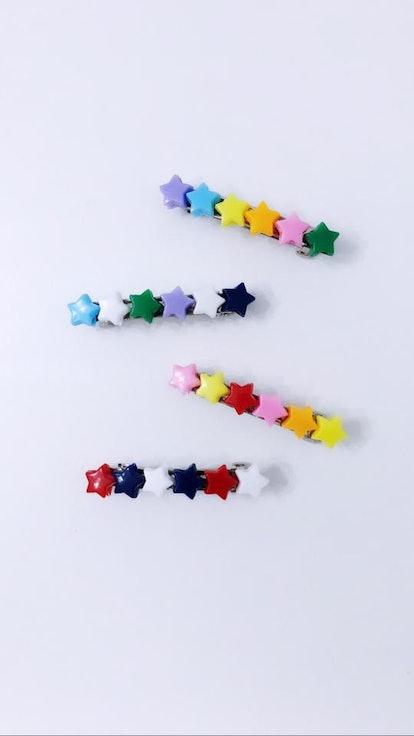 MIXED STAR BARRETTES