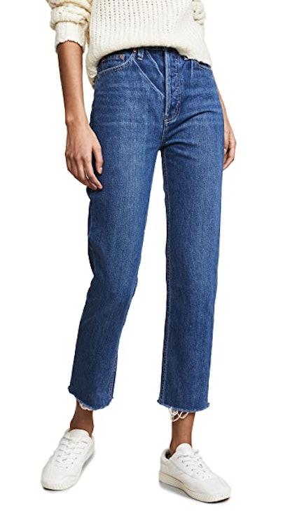 Harper Crop Slim Straight Jeans