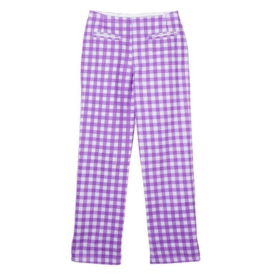 KOKOMO PANTS GINGHAM - PURPLE