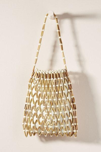 Banago Alana Woven Bamboo Tote Bag