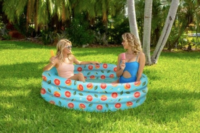 Inflatable Grapefruit Sunning Pool