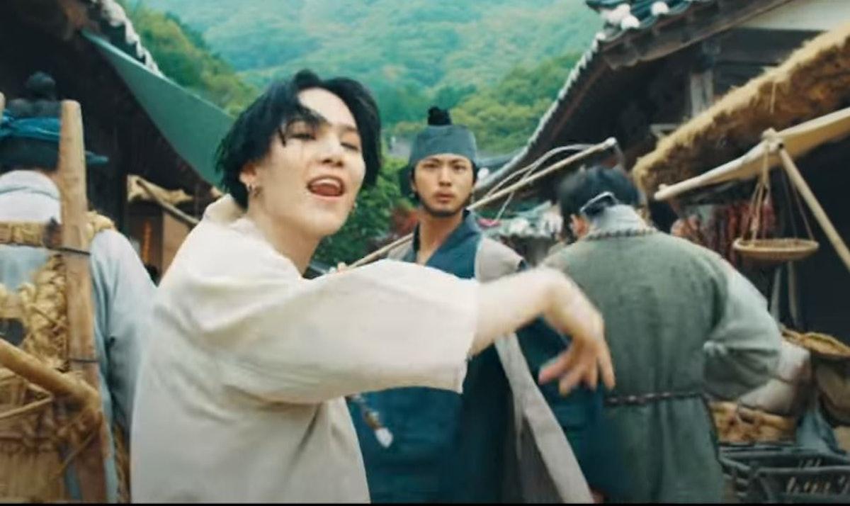 """Suga & Jin in Agust D's """"Daechwita"""" music video"""