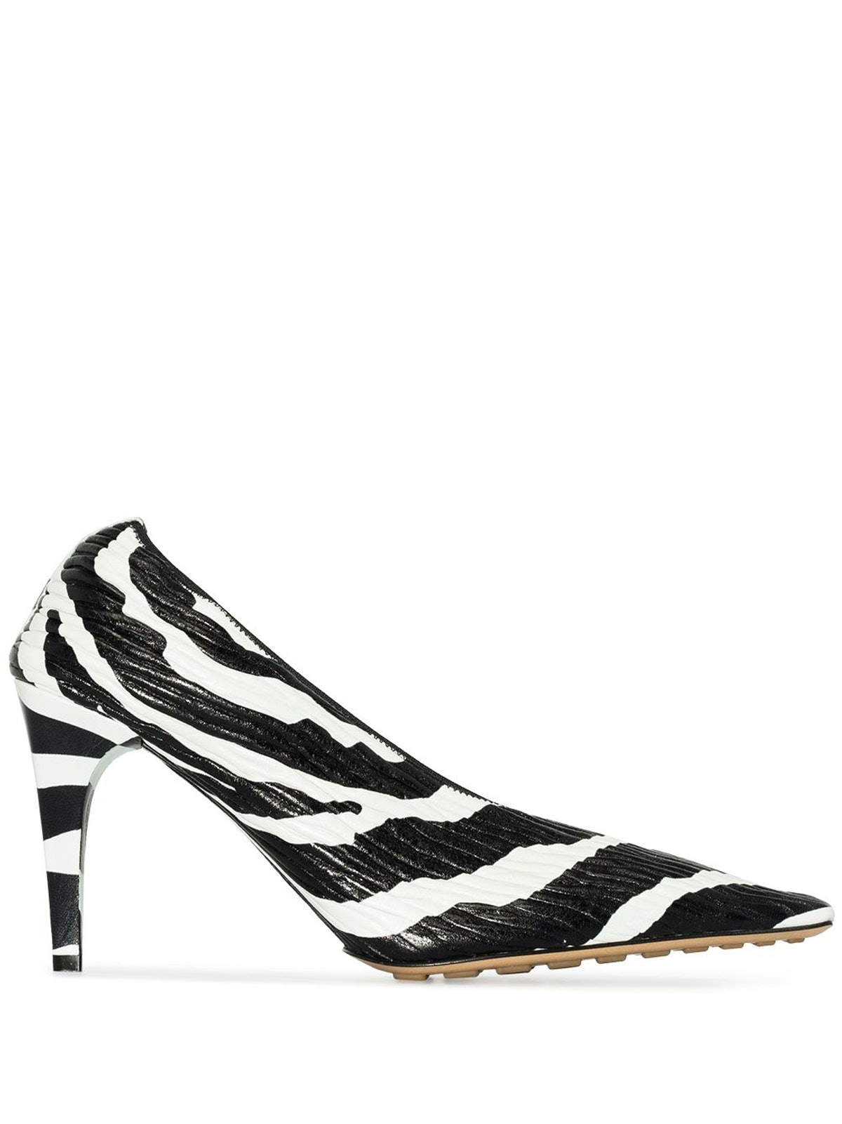 90mm Two-Tone Leather Pumps