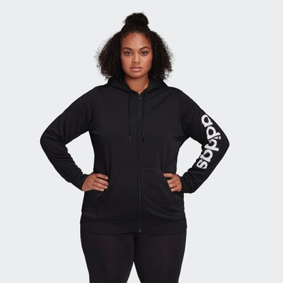 Essentials Hooded Track Top (Plus Size)
