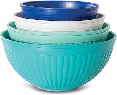 Nordic Ware Prep & Serve Mixing Bowl Set (4-Piece)