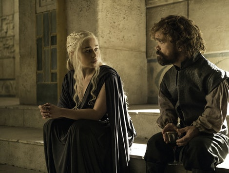 Daenerys and Tyrion on Game of Thrones