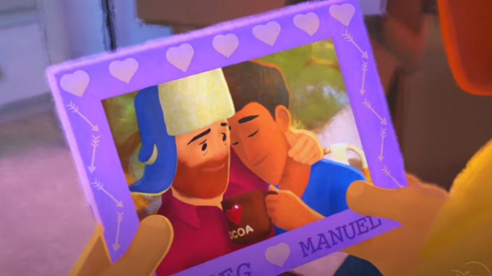 'Out' from Disney/Pixar is a beautiful story of a man coming out to his family.