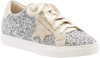 Syktkmx Womens Glitter Fashion Sneakers