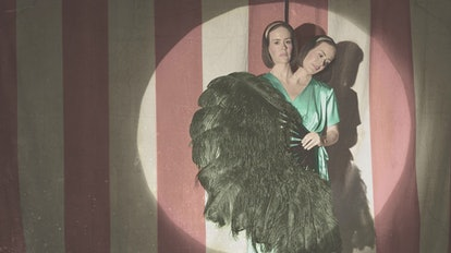 Sarah Paulson as conjoined twins Bette and Dot in 'American Horror Story: Freak Show'