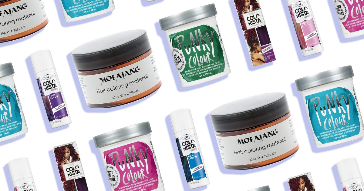 5 Vibrant, Temporary Dyes That *Actually* Transfer Onto Dark Hair — Without Any Bleach